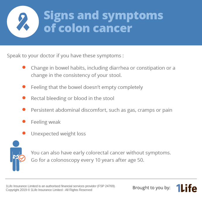 Colon Cancer Don T Ignore Warning Signs 1life